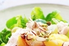 Poached chicken salad. Photo / Doug Sherring