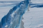 NASA scientists have created a virtual flythrough of a vast crack in Antarctica's Pine Island Glacier.