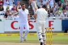 Jacques Kallis celebrates getting the wicket of Kane Williamson. Photo / Getty Images