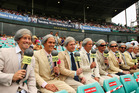 Often imitated, never beaten. Richie Benaud has remained the standard-bearer of Australian cricket commentary for decades. Photo / Getty Images