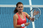 Agnieszka Radwanska of Poland thanks the crowd after winning her quarter final match against Elena Vesnina of Russia during day four of the 2013 ASB Classic. Photo / Getty Images
