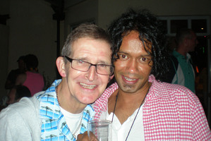 Ricardo Pisano (right) had been living with Michael Polding (left) who was found dead in his flat. Photo / Supplied