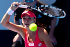 Agnieszka Radwanska in action against Greta Arn during the ASB Classic. Photo / Dean Purcell