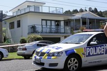 The Waihi Beach property at which a man was stabbed and critically injured. Photo / George Novak