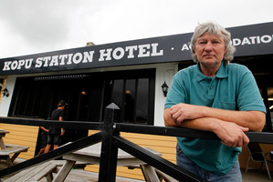 Guy Robinson, Owner of the Road House Bar and Cafe has lost a lot of business since the new bridge opened and traffic no longer go past. Photo / Christine Cornege