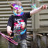 "Mason Carter chases the bubbles during ""Christmas at Uncle Jaimie's"" in Awakino. Photo / Irene Whittaker"
