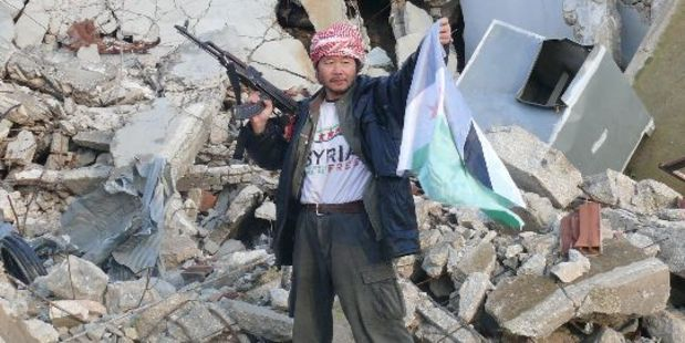 Kiwi Weiming Chen fights with Syrian rebels.