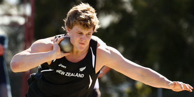 Jacko Gill could be Olympic shot put champion and still get nowhere near the world record. Photo / Getty Images