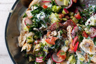 Na'ama's Fattoush from Jerusalem by Yotem Ottolenghi and Sami Tamimi. Photo / Jonathan Lovekin