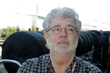 George Lucas has popped the question to his partner of seven years. File Photo / AP