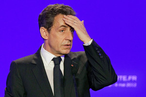 "Nicholas Sarkozy has described as ""grotesque"" claims he received illegal payments. Photo / AP"