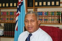 Fiji's military coup leader Voreqe Bainimarama. Photo / Dev Nadkarni 