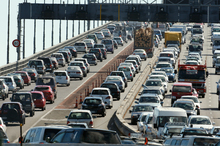 Traffic congestion in Auckland calls for more effective public transport system. Photo / Brett Phibbs