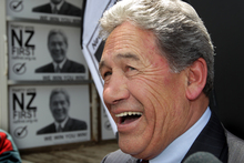 NZ First party leader Winston Peters can't believe his luck. Photo / NZ Herald
