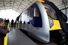 The new electric train prototype. Photo / Sarah Ivey