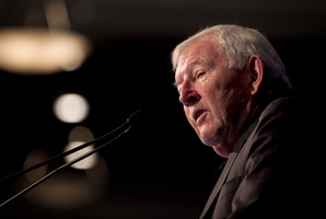 Sir Ron Brierley director at the Guinness Peat Group. Photo / Natalie Slade