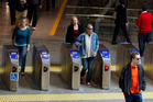 Hop barriers were introduced to Britomart last year. Photo / Steven McNicholl