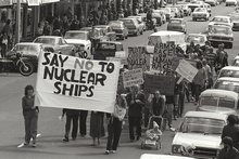 New Zealand's opposition to nuclear ships created political difficulties for Canberra.  Photo / APN