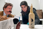 The scotch was dug out from under explorer Ernest Shackleton's hut three years ago by a team from the NZ Antarctic Heritage Trust. Photo / NZPA