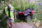 The quad bike involved in the accident. Photo / Hawkes Bay Today