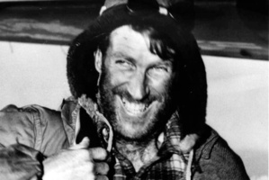 Sir Edmund Hillary smiling a greeting when he returned by air to Scott Base after reaching the Pole on January 4, 1958. File photo / NZ Herald