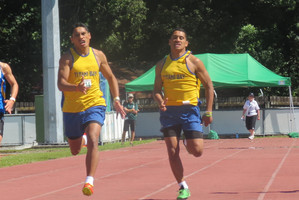 Fa'aolataga, left, and Mafutaga Tau compete. Photo / Supplied