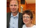 Sean Davison and Carole Sweney. Photo / Kapiti News