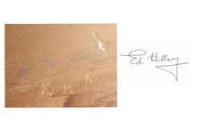 A handwriting expert found nine differences between the signature in the hut and a sample known to have been written by Sir Edmund. Photo / Supplied