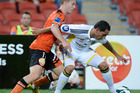 Leo Bertos suffered facial injuries in the 2-1 loss to the Roar at Suncorp Stadium. Photo / Getty Images