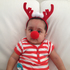 Seven-month-old Hurshul Billimoria becomes a red-nosed reindeer for Christmas Day. Photo / Prashant Billimoria