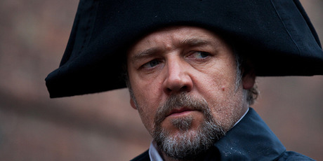 Russell Crowe as Inspector Javert in Les Miserables. Photo/AP