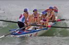The Mairangi Bay women's surf boat crew competing in Whangamata last year.  Photo - Jamie Troughton/Dscribe Journalism.