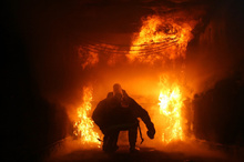 Infrared lasers could help firefighters to see through flames. Photo / Thinkstock
