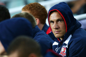 Sonny Bill Williams voiced his own entrance onto the field during the Roosters' loss to the Rabbitohs. Photo / Getty