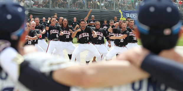 The Black Sox perform the haka. Photo / Getty Images