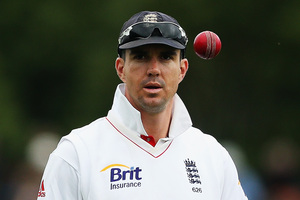 Kevin Pietersen of England looks on during day four of the First Test match. Photo / Getty Images