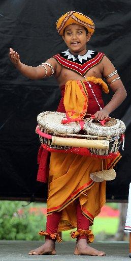 CULTURAL DANCE: Senuke Sudusinghe, Sri Lankan Dance Academy, Wellington, performs at the International Cultures Day HBT130067-17.JPG