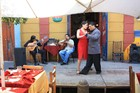 La Boca's cafes combine live music with tango dancing. Photo / Paul Rush