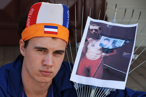 Tristan Barker is wanted by authorities in Australia over comments made on the internet. Photo / Kerry Grant
