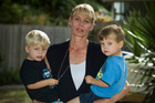 Kyla McCormack with her twin boys Charlie and Nathaniel. Photo / Michael Craig