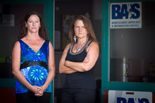 Kaz Keys (left) and Karen Pattie are worried about the future of their  beneficiaries advice  service. Photo / Natalie Slade 