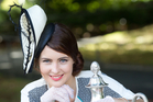 Cambridge 20-year-old Claudia Campbell won the Prix de Fashion during Derby Day at Ellerslie. Photo / Richard Robinson