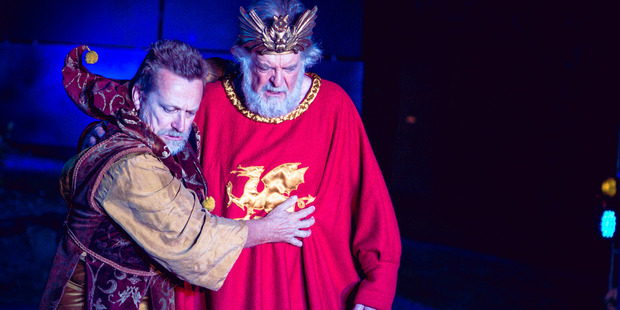 Michael Hurst as The Fool and Michael Neill as Lear in 'King Lear'. Photo / Oliver Rosser