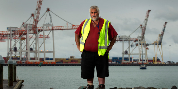 Lance Waaka, member of Ngati Ruahine, is especially against port plans to remove 32m from the Tanea Shelf which is sacred to local iwi. Photo /Alan Gibson