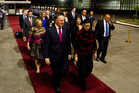 John Key receives a state welcome in Mexico City at the start of his visit to Latin America. Photo / Supplied