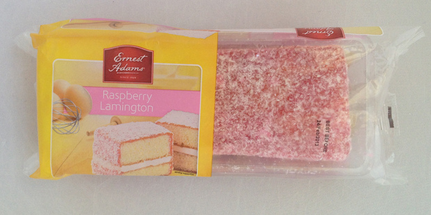 Ernest Adams Raspberry Lamington.