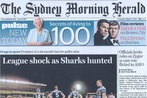 Headline writers across the ditch must be thanking their lucky stars to have landed in pun heaven. Photo / Supplied