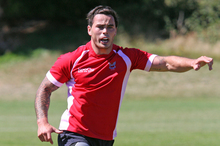 Zac Guildford in action for Napier Tech in Taupo. Photo / Jessica Williamson 
