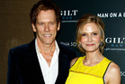 Kevin Bacon and wife Kyra Sedgwick have learned they're cousins. Photo / AP