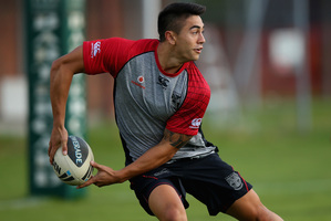 Shaun Johnson's elbow has healed well since his injury 10 days ago. Photo / Getty Images